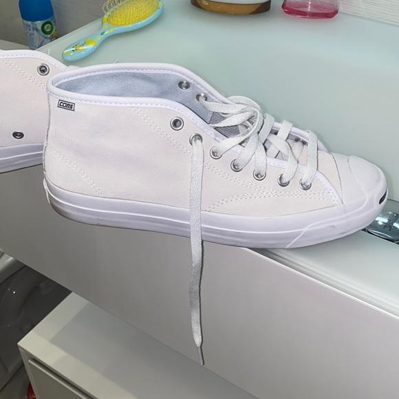 Midtop suede cream converse